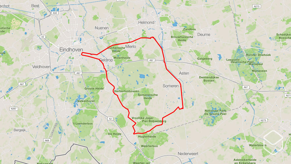 cobbles wielrennen routes eindhoven kanalen dorpjes